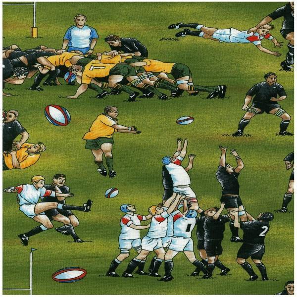 England Rugby Player Mad Dog: Hotdiggitydogfabrics Rugby Fabric