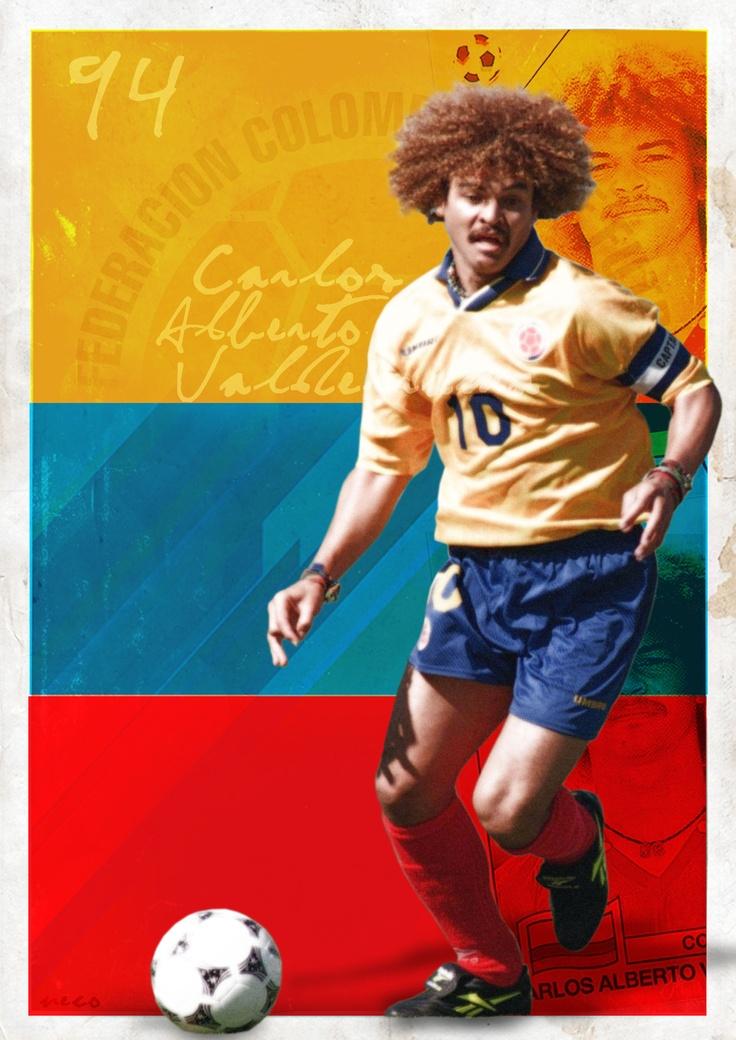 """Carlos """"El pibe"""" Valderrama (born September 2, 1961), legendary Colombian football player."""