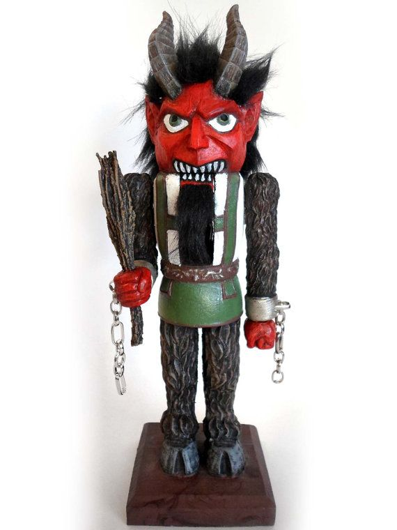 The perfect present for a naughty child. Krampus Nutcracker Limited Edition by Dellamorteco on Etsy, $95.00
