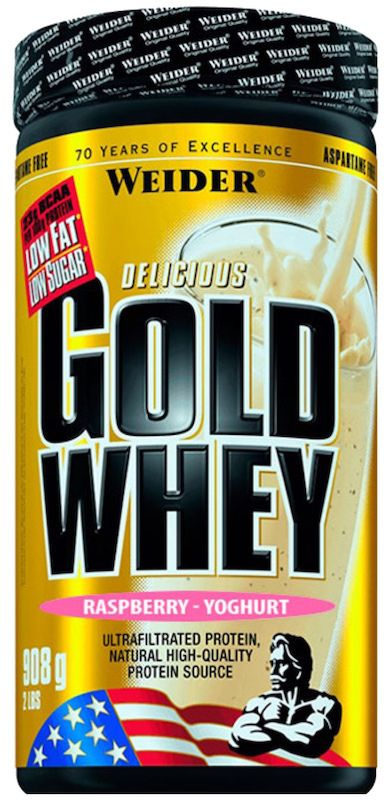 Weider Gold Whey 908 G (2 LB) - Muscle Petrol Weider Gold Whey is a low fat and low carb drink mix powder rich in high-quality whey protein. It also contains a high concentration of BCAAs (23 g in every 100 g protein).