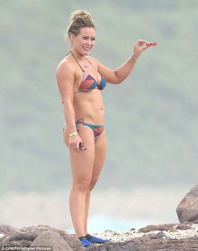Life's a beach: Hilary Duff enjoyed a seaside Friday during her holiday in Puerto Vallarta