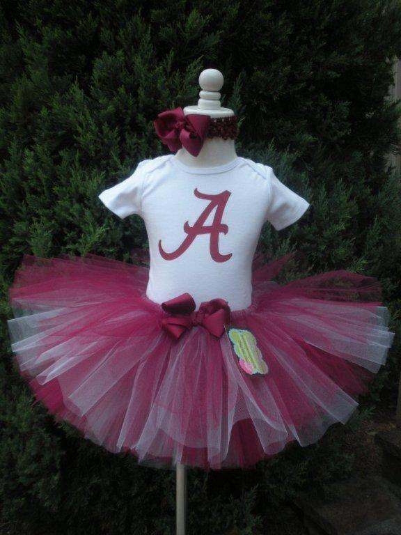 Alabama College Football ROLL TIDE Tutu Dress Outfit