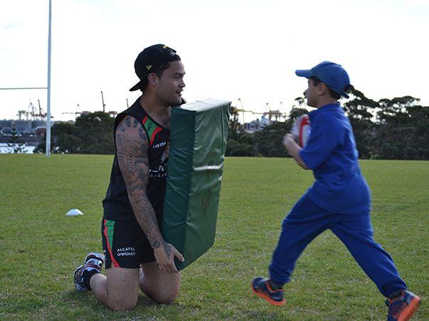 Issac Luke - South Sydney Rabbitohs. Souths Cares.