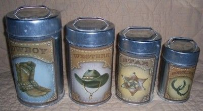 western kitchen canisters patriotic kitchen decor western cowboy kitchen canister 15421