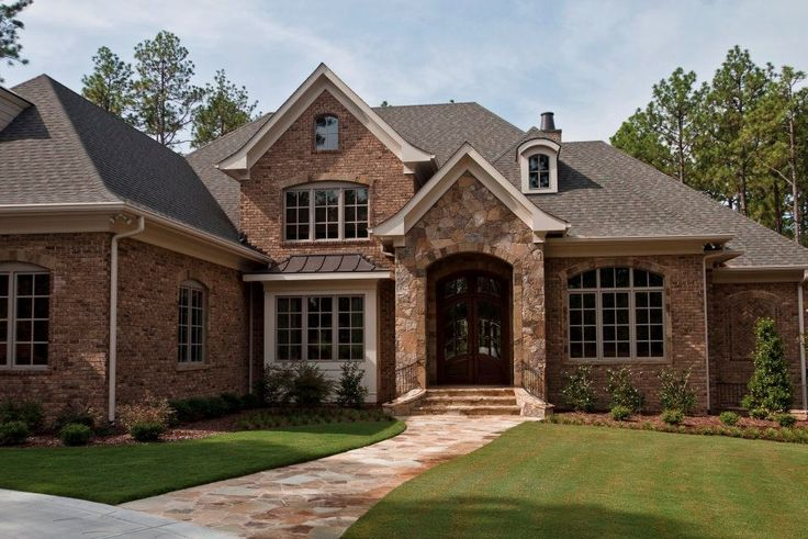 Awesome Homes with Brick and Stone Exterior