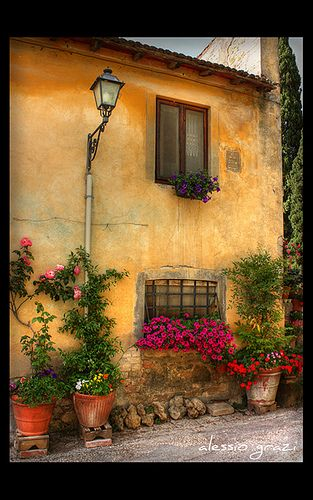 Tuscany - spring has come in the village by alessio grazi, via Flickr