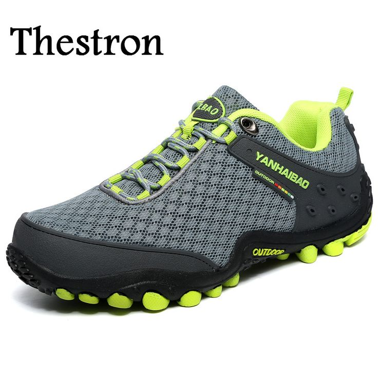 Thestron Climbing Shoes Men Spring/Summer Sport Shoes For Man Blue/Gray Hiking Sneakers Mens Breathable Men Walking Shoes #Affiliate