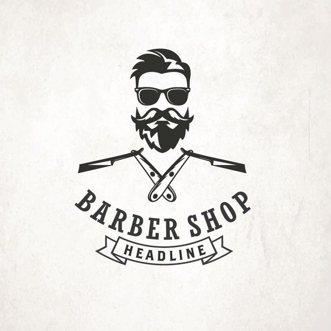 VINTAGE OR HIPSTER BARBER LOGO by Neatlines