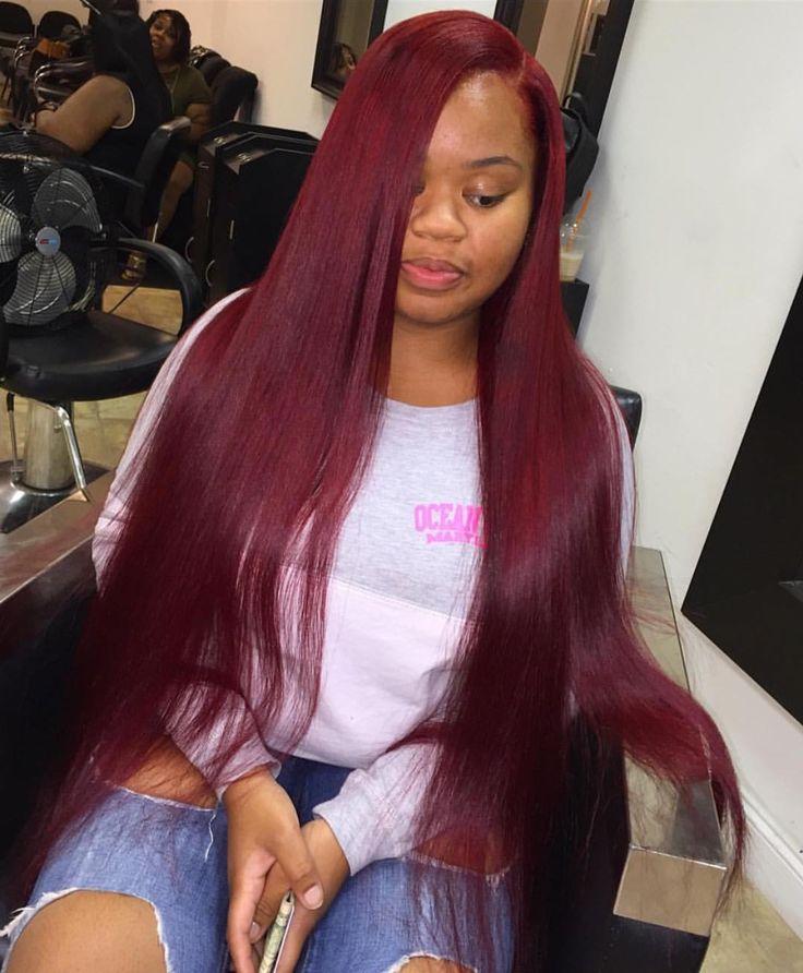 Admirable 1000 Ideas About Burgundy Hairstyles On Pinterest Burgundy Hair Short Hairstyles For Black Women Fulllsitofus