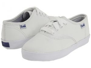 Keds Kids Original Champion CVO (Toddler/Little Kid) (White Leather) Girls Shoes