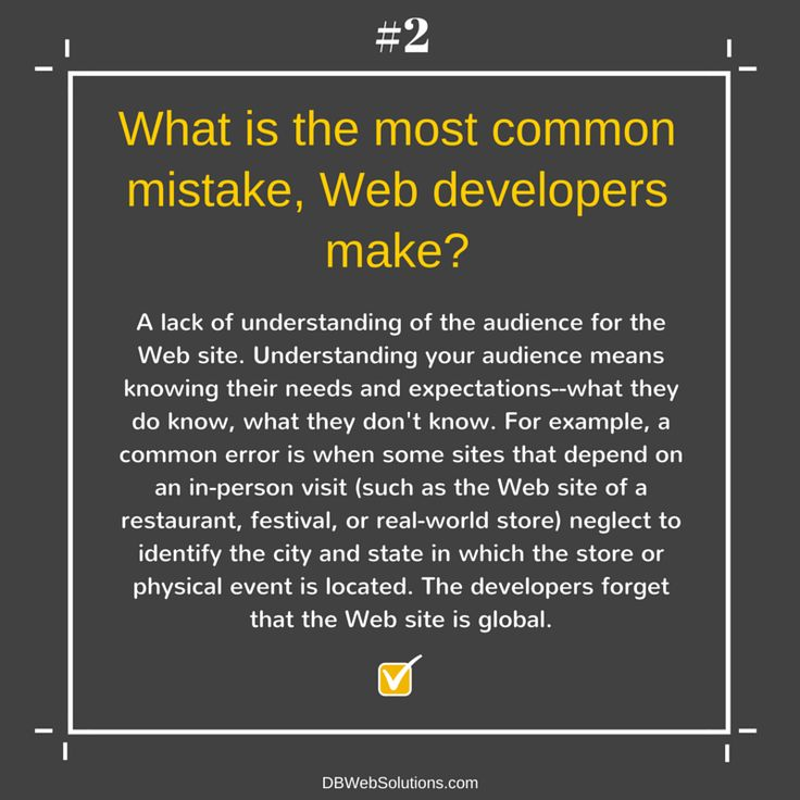 What is the most common mistake Web developers make?  #WebDevelopers #Web #Developers #Website #Common #Error #Mistake #Global