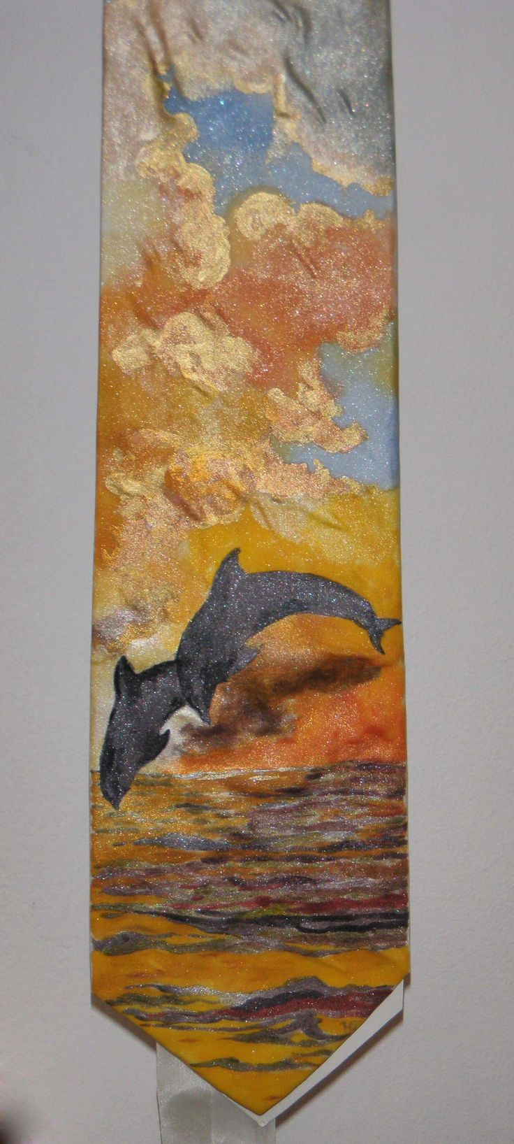 handpainted silk tie - www.ilgiardinodellacerorosso.com