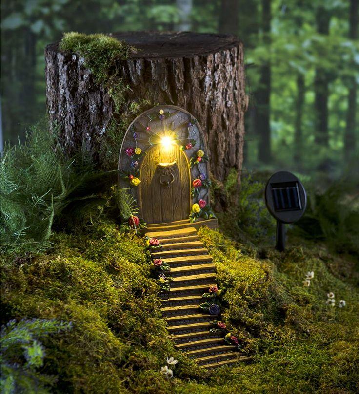 Light Up Fairy Door With Stairs | Childrens Gardening