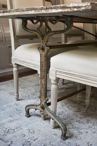 Antique iron base table, France - Linda McDougald Design | Postcard from Paris Home