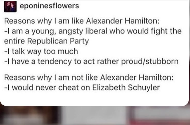That awkward moment when Hamilton was a Federalist, not a Democrat, and the Federalist Party died out and cannot be reconciled with the modern Democratic Party. Other than that, yes.