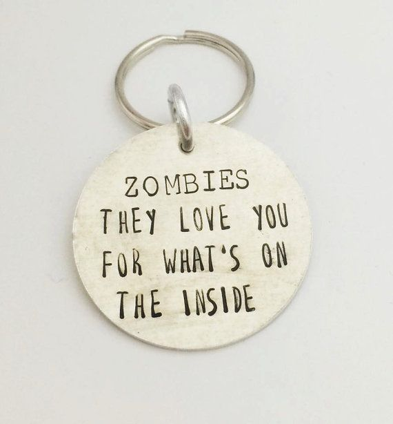 Hand Stamped Zombie Walking Dead by PurpleBJewellery on Etsy