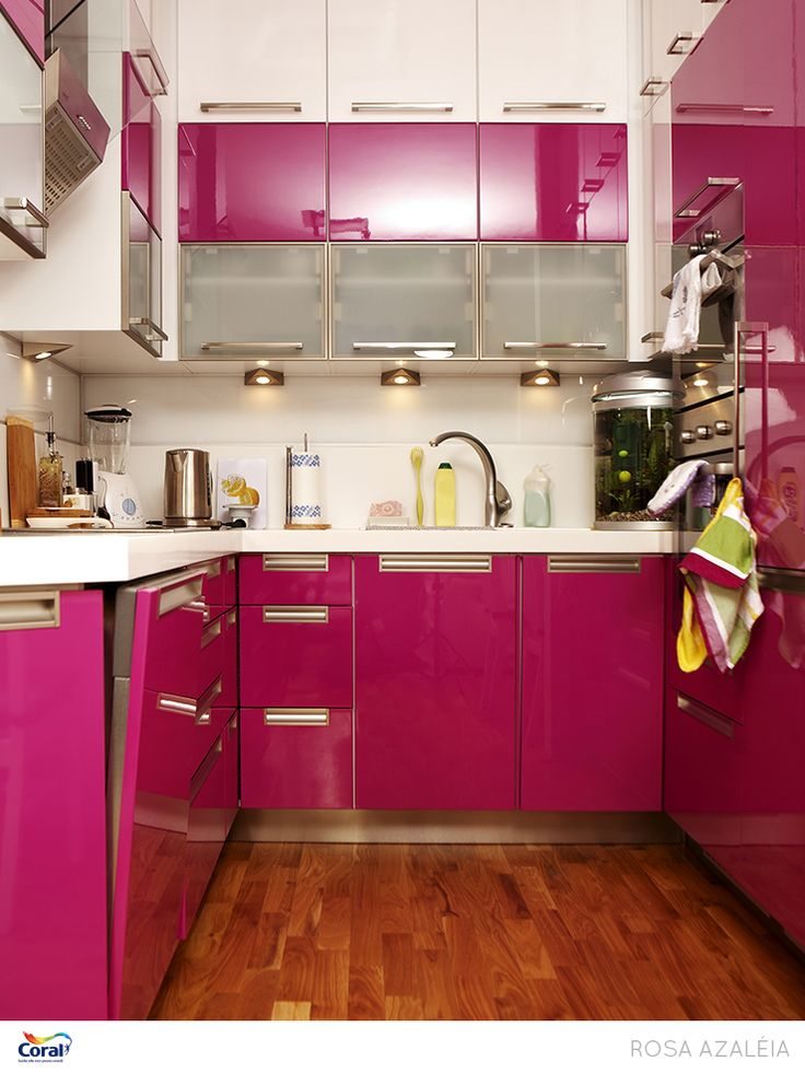 Pink Kitchen Cabinets With Wood Floor Interior Design Ideas And  Inspiration, With Quality HD Images Of Pink Kitchen Cabinets With Wood  Floor. Part 50