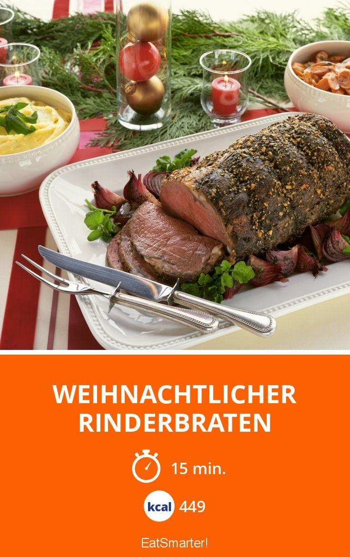 Weihnachtlicher Rinderbraten - smarter - Kalorien: 449 Kcal - Zeit: 15 Min. | eatsmarter.de