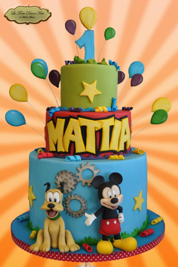 "First Birthday with Mickey by Adelina - ""Le Torte DecorArte"""