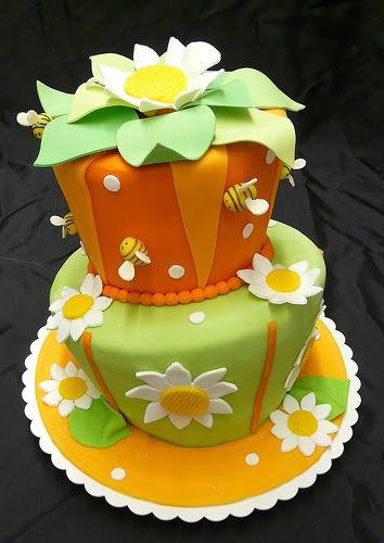Flower Topsy Turvy Cake