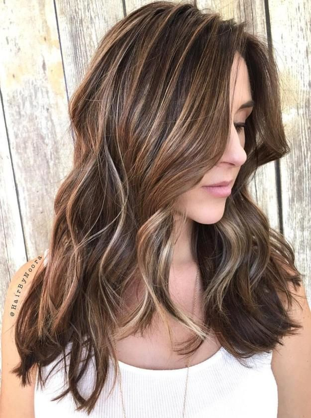 25 Best Ideas About Brunette With Blonde Highlights On