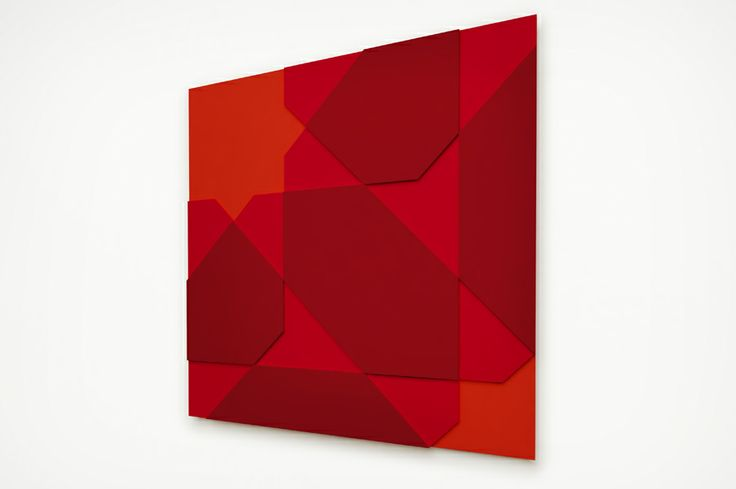 Red Zone, acrylic on MDF, 1000 x 1000 mm, 2014 © Mostapha El Oulhani
