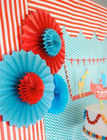 Paper fan decorations