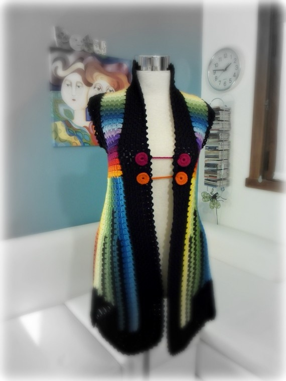 I can see this in handspun. I think I need a crocheted vest.