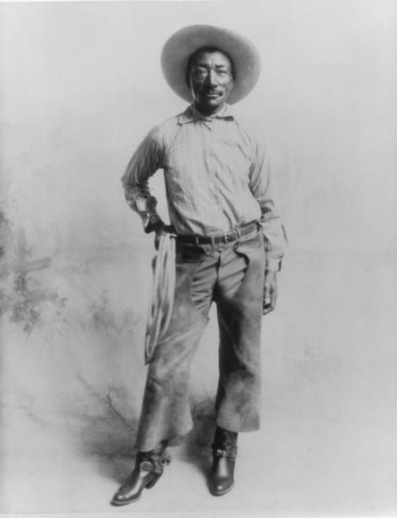 "Bill Pickett (December 5, 1870 - April 2, 1932)  Today is the birthday of Bill Pickett, the first African-American to be inducted into the Rodeo Hall of Fame, the first African-American cowboy star, and the originator of ""bulldogging,"" a type of steer wrestling. (IMDb)  Pickett also appeared in two silent films for the Norman Film Manufacturing Company: The Bull-Dogger (1921) and The Crimson Skull (1922). (Norman Studios was a Jacksonville, Florida-based company which produced a string"