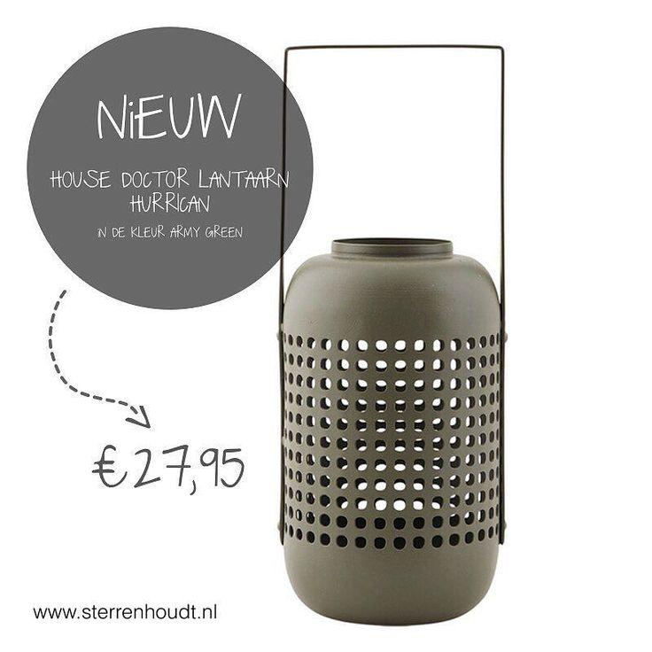 JAAA ... ze zijn eindelijk binnen!! Deze onwijs stoere robuuste ijzeren lantaarns van @housedoctordk in de kleur ArmyGreen  ... Shop ze snel op www.sterrenhoudt.nl