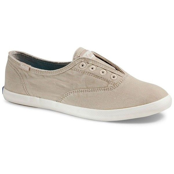 Keds Chillax Canvas Sneakers ($45) ❤ liked on Polyvore featuring shoes, sneakers, beige, keds shoes, canvas sneakers, pull on sneakers, plimsoll shoes and fleece-lined shoes