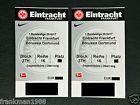 #Ticket  2 Tickets Eintracht Frankfurt BVB Borussia Dortmund Gegentribüne Kat 1 Block 27H #italia