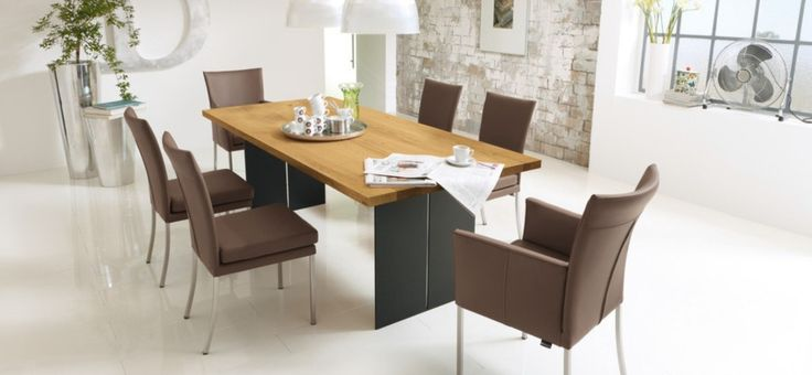 Modern Dining Room Ideas: Brown Leather Modern Dining Room Ideas ~ interhomedesigns.com Dining Room Designs Inspiration