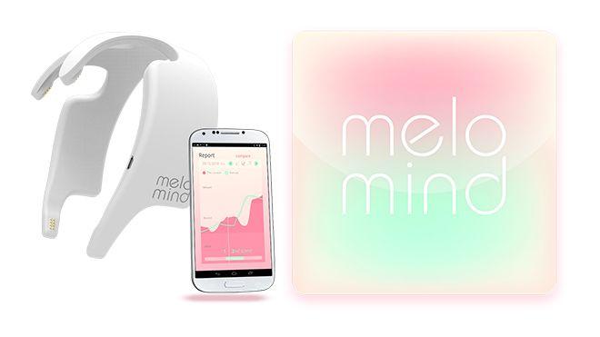 Melomind, una fascia per capelli munita di sensori che dopo aver misurato le onde cerebrali di una persona, crea composizioni musicali personalizzate destinate a farla rilassare.