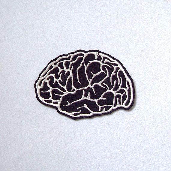 Parche bordado de cerebro
