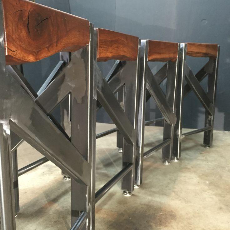 Live Edge Walnut Barstools. Www.curtisfrankdesign.com · Industrial  FurnitureIndustrial ...