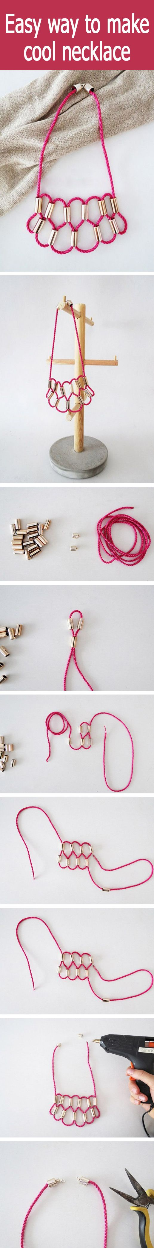 Easy way to make cool necklace