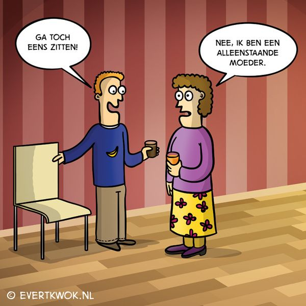 Ja typisch. #cartoon - Evert Kwok