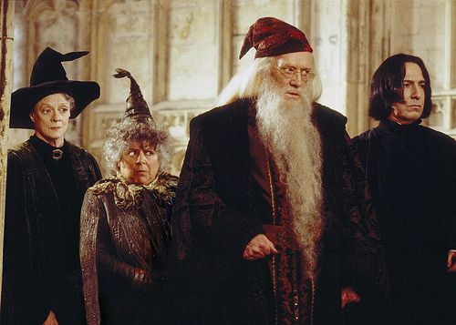Love the faces Mcgonnigal: well then! Sprout: say WHAA?? Dumbledore : you-know-you're-not-supposed-to-do-that-so-quit-this-instant! Snape: I hate you.