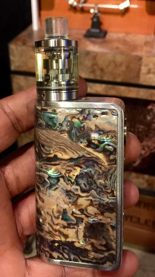 Custom Green and Brown Marble Vape Mod ~ Find thousands of vape mods at Vape Discount & Mod