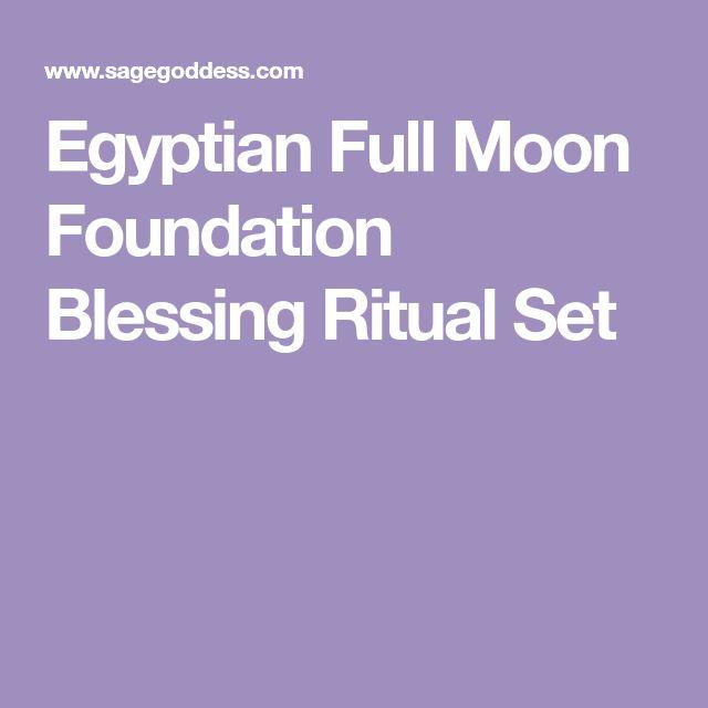 Egyptian Full Moon Foundation Blessing Ritual Set