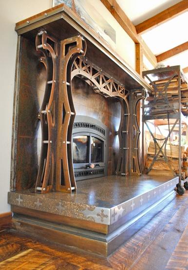 Brandner Design - Industrial fireplace arch