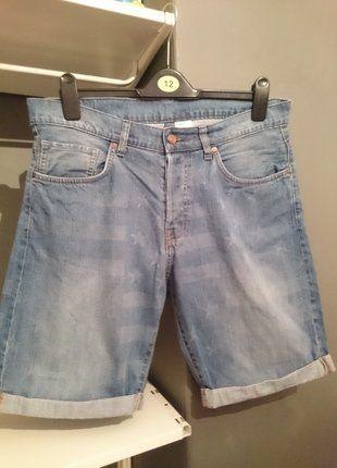 Buy here at #vinteduk http://www.vinted.co.uk/mens/long-shorts/6452351-hm-american-flag-button-fly-denim-jeans-shorts