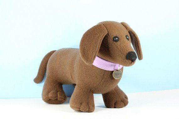 Dachshund Plush Toy Dog Plushie Cute Stuffed Animal Kawaii