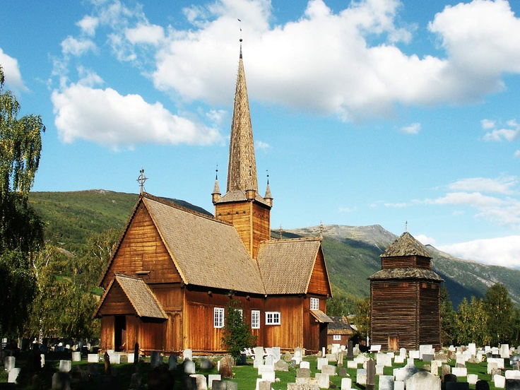 Vågå church, Norway, constructed 1625-1630 using materials from a much older stave church, first mentioned in writing in 1130.