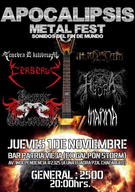 1 de Noviembre: Apocalipsis Metal Fest