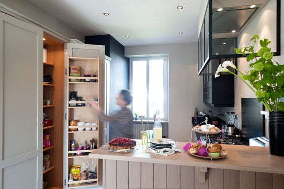 Entr e ouverte pi ces vie 10 m2 bar salle manger for Agencement cuisine ouverte