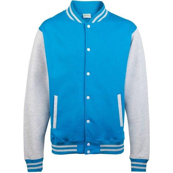 AWDis Hoods Varsity Letterman jacket ($26) ❤ liked on Polyvore featuring outerwear, jackets, varsity jacket, varsity style jacket, varsity bomber jacket, hooded jacket and college jackets