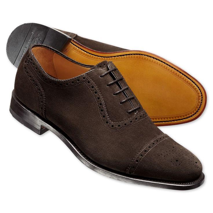 Brown Earlham Suede Semi Brogue Shoes Men S Business