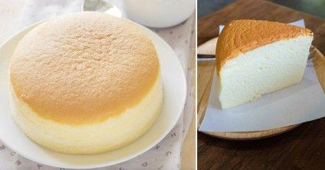 Pastel+de+queso+japonés+con+solo+tres+ingredientes